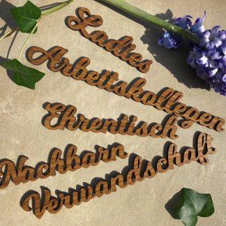 Bestseller 5 Tischkarten Platzkarten Namensschilder Hochzeit Lasiert