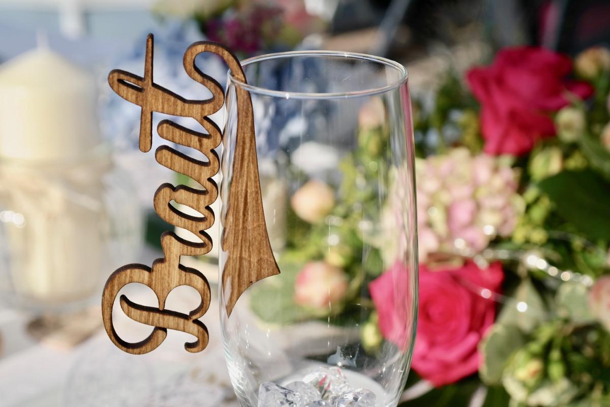 5 edle Tischkarten Platzkarten Namensschilder Hochzeit | Grapefruit