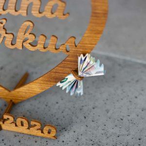 Bestseller Individuelles Geschenk zur Hochzeit aus Holz Groß