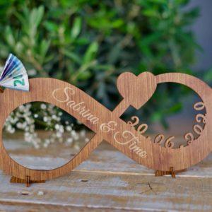 Geschenke Unendlichkeit – Geschenk zur Hochzeit aus Holz XL