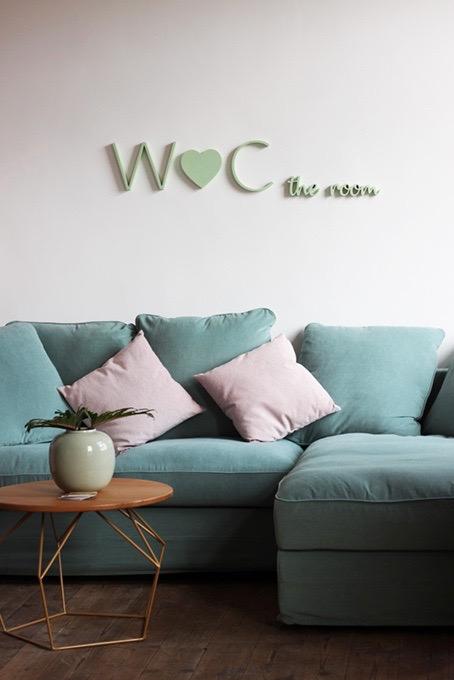 Logo gefräst aus Holz