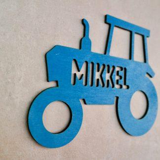 Für Kinder Individuelles Türschild aus Holz mit Traktor-Motiv