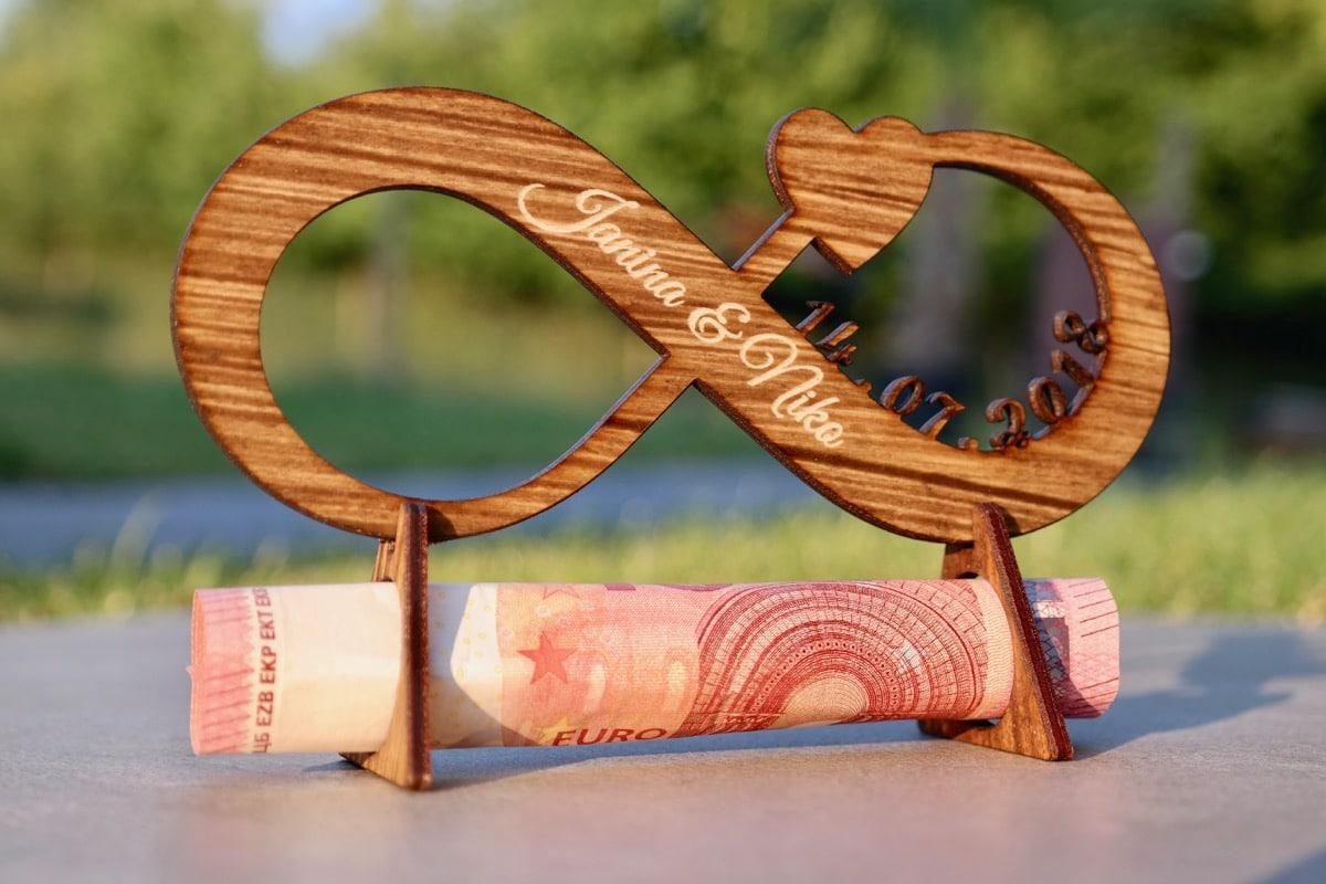 Geldgeschenk Hochzeit Unendlichkeit - Personalisiert Geldgeschenk Hochzeit Unendlichkeit - Personalisiert