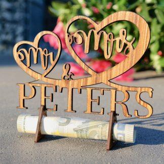 Geschenke Mr&Mrs – Geschenk zur Hochzeit aus Holz