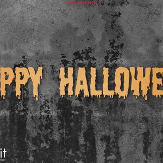 "Halloween Halloween-Schriftzug ""Happy Halloween"" aus Holz zum Aufkleben"