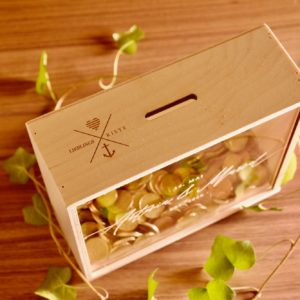 Geschenke Lieblingskiste als Spardose zur Hochzeit