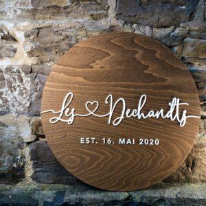 Dekoration Alternatives rundes Gästebuch XL aus Holz zur Hochzeit