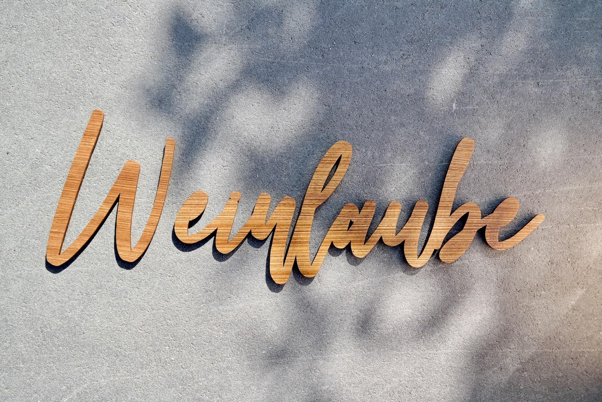 Dekoration Individueller 3D-Schriftzug aus lasiertem Holz zum Aufkleben