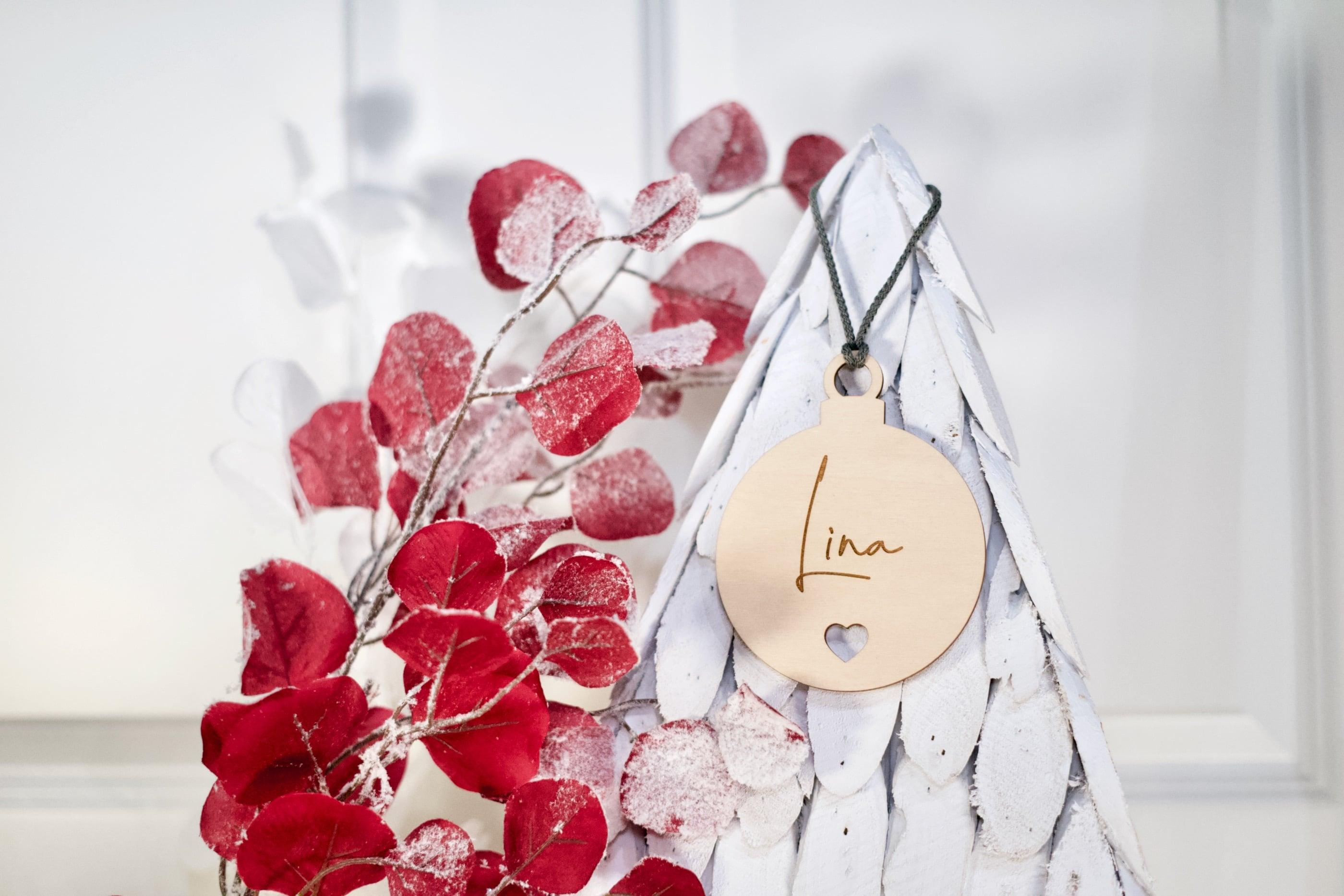 Hochzeit 5er-Set Save The Date-Karte als Feder aus Holz mit Gravur Kühlschrankmagnet Hochzeit